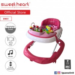 'Sweet Heart Paris Baby Walker BW01 (Pink) With 3 Height Adjustment'