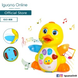 'Iguana Online Early Education Electric Baby Toy Bump and Go Dancing Duck with Music for Children Kids Boys and Girls'
