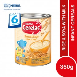 Nestle Cerelac Infant Cereals With Milk Rice and Soya (350g)