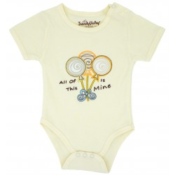 Trendyvalley Organic Cotton Rompers Short Sleeve Baby Shirt (Lollipop)