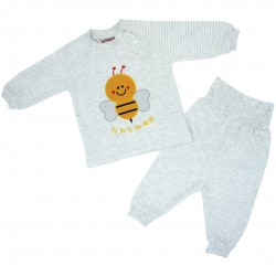 Trendyvalley Organic Cotton Baby Long Sleeve Pyjamas (Bee)