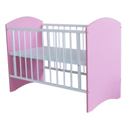 Royalcot R110 Baby Cot White Pink