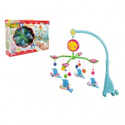 Baby Cot Musical Mobile Baby Toys (Dolphin)