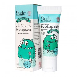 Buds Oralcare Organics Children's Toothpaste with Flouride 50ml - Peppermint