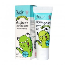 Buds Oralcare Organics Children's Toothpaste with Flouride 50ml - Green Apple