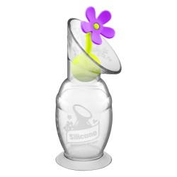 Haakaa Silicone Breast Pump 150ml and Flower Stopper Combo