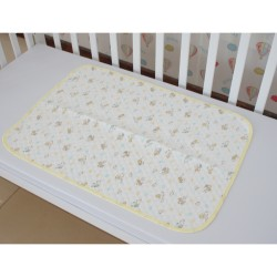 Baby Mattress Protector Waterproof Cotton Baby Diaper Changing Mat Pad Urine Pad Cover (Yellow) 70 x 50cm