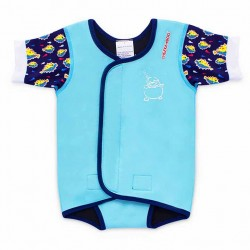 Cheekaaboo Waterbabes Wrap-Light Blue / Puffer Fish