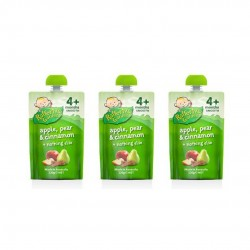 Rafferty's Garden Smooth 4 Months-Apple,Pear & Cinnamon 120G (in 3 Pack)