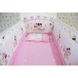 Royalcot Pink Mickey Baby Cot Bedding Set