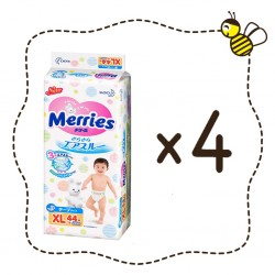 Merries Tape Diapers 4 packs (44 pieces / pack) Size XL