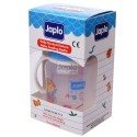 Japlo Deluxe 260Ml Feeding Bottle Blue (With Handle)- With 1 Silicone Nipple