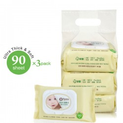Simba Edi Pure Water Ultra-Thick Baby Wet Wipes (3pack x 90sheet)