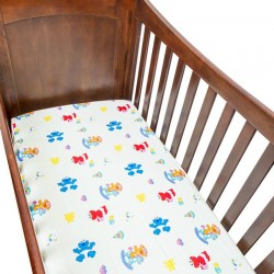 Sesame Street Beginnings Crib Sheet for Baby Mattress - Time for Play