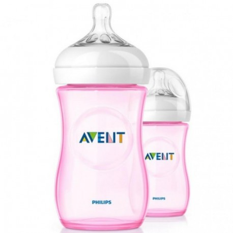 Philips Avent Natural 90oz/260ml Special Edition Twin Pack (Pink)