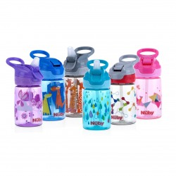 NUBY Printed and Tinted Soft Spout Sport Bottle with Push Button Top 360ML
