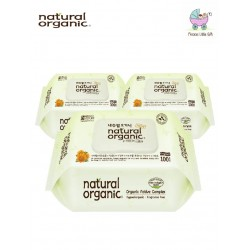Natural Organic Baby Wipes - Original Plain 100 Captype Sheets (3 Packs)