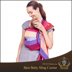 Mamaway Rainbow Sweetheart ​Baby Ring Sling Carrier Mei Tai