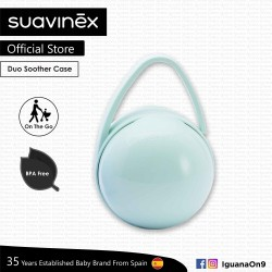 f7b51c856c974 Suavinex BPA Free Duo Soother Pacifier Holder Box (Teal)
