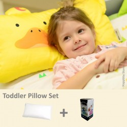 Milo & Gabby Toddler Pillow & Pillowcase Set (Duck Designed)
