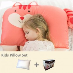Milo & Gabby Kids Pillow & Pillowcase Set (Squirrel Designed)