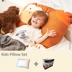 Milo & Gabby Kids Pillow & Pillowcase Set (Monkey Designed)