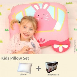 Milo & Gabby Kids Pillow & Pillowcase Set (Lola Princess Designed)