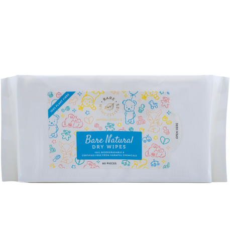 Bare Nuhcessities Natural Dry Wipes (80 pcs)