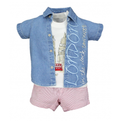 BABY STYLE ASIA Baby Boys London Boy Shirt, Tanktop & Shorts
