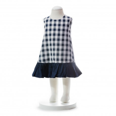 BABY STYLE ASIA Baby Girls Summer Style Checkered Dress
