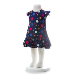 BABY STYLE ASIA BABY GIRLS SUMMER STYLE COLORFUL POLKA DOT DRESS