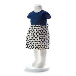 BABY STYLE ASIA BABY GIRLS SUMMER STYLE RIBBON BLUE POLKA DOT DRESS