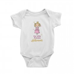 Babywears.my Our Little Princess in Pink Dress with Addname T-Shirt  Pinky For Girls Personalizable Designs