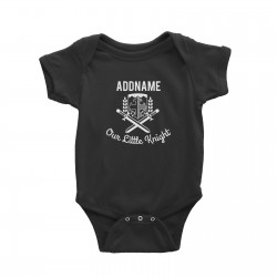 Babywears.my Our Little Knight Emblem Addname T-Shirt Personalizable Designs For Boys