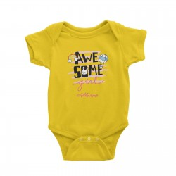 Babywears.my Awesome Girl with Bunny Elements Addname T-Shirt Personalizable Designs For Girls