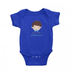 Babywears.my Cute Boy with Blue Bow Hi I Am Little Addname T-Shirt Personalizable Designs Newborn For Boys