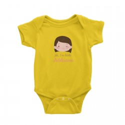 Babywears.my Cute Girl with Short Hair Hi I Am Little Addname T-Shirt Personalizable Designs For Girls