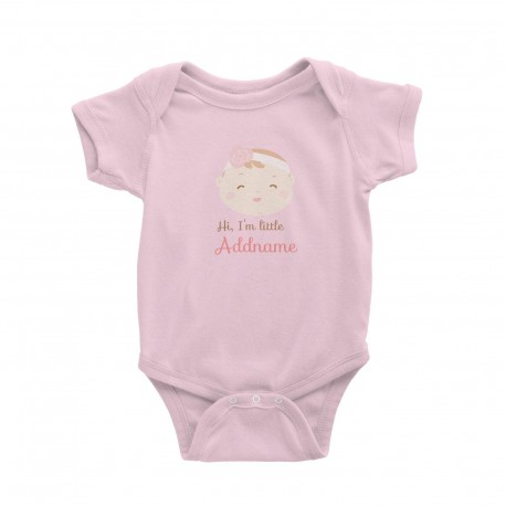 Babywears.my Cute Boy with Coconut Fringe Hi I Am Little Addname T-Shirt Personalizable Designs For Boys
