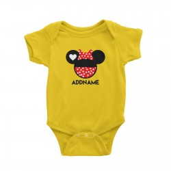 Babywears.my Minnie Love Head T-Shirt Personalizable Designs Matching Family Animal Cartoon