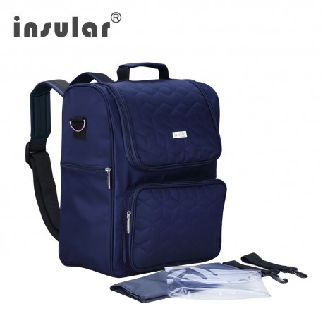 Insular Waterproof Nylon Baby Diaper Backpack Large Capacity Mommy Stroller Bag New Arrived INS003