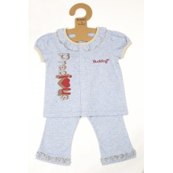 Budding Baby Anti-Mosquito Apparel Short Sleeve & Long Pant Girl - Blue