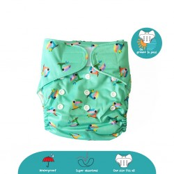 'Cheekaaboo 2-in-1 Reusable Swim Diaper / Cloth Diaper - Toucan (6-36 months) - Summer Paradise'