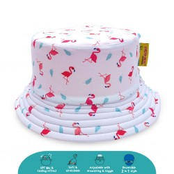 'Cheekaaboo Reversible Bucket Hat - Flamingo (Summer Paradise)'