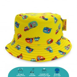 'Cheekaaboo Reversible Bucket Hat - Camper Van (Summer Paradise)'