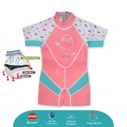 'Cheekaaboo Kiddies Suit Thermal Swimsuit - Flamingo (Summer Paradise)'
