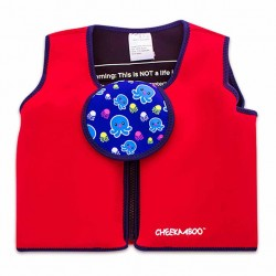 Cheekaaboo Floatsy Jacket-Red / Octopus