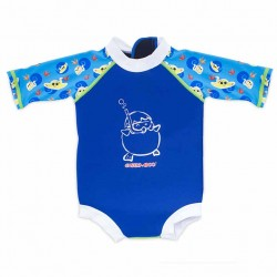 Cheekaaboo Snugbabes Suit-Navy Blue / Stingray
