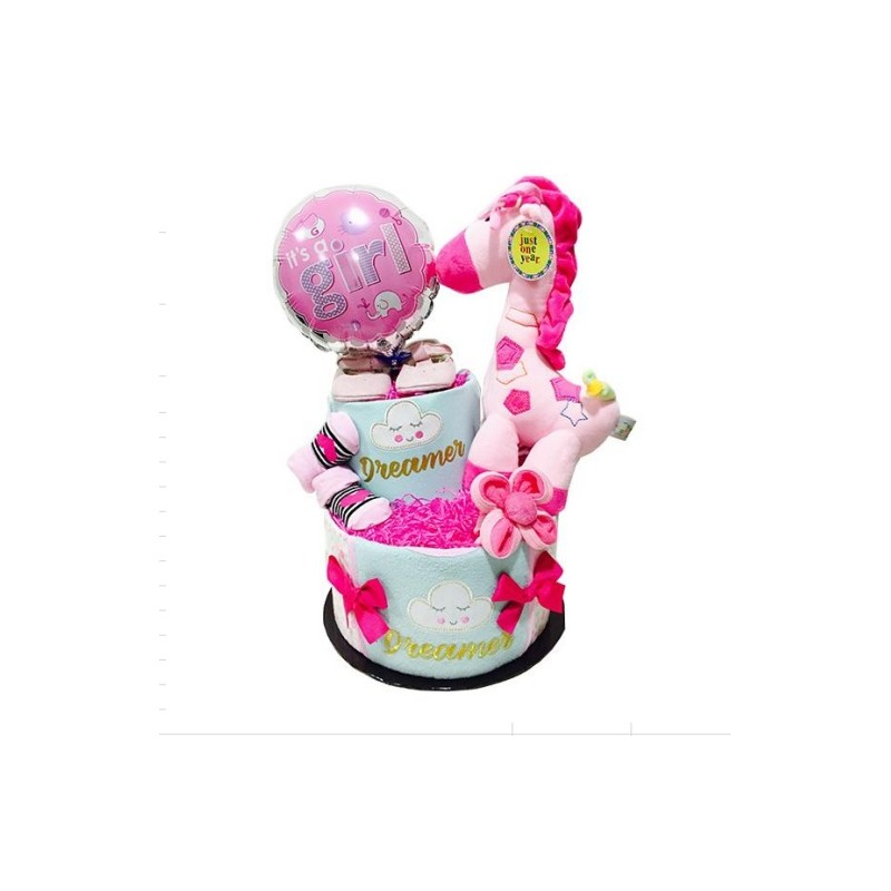 Diapercake 2 Tier Dreamer Baby Gift Girl Gifts