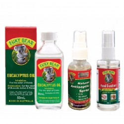 Euky Bear Eucalyptus Oil 60ML + Antiseptic 55ML + Hand Sanitiser 60ML