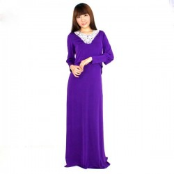 'Fabulous Mom Maxi Nursing Dress (Purple)'